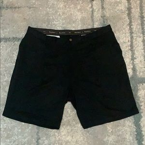Tommy Bahama black silk pleated shorts, 42